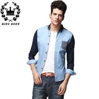 Mens t shirts fashion  2014 High Quality Casual Shirt  Polka Dot Flora Hit color High Quality   Man Tee Tops 12.12 On Sale