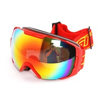 2014 New POLISI Outdoor Sport Windproof Ski Glasses Snowmobile Sled Anti-Fog Snow Goggles Eyewear Oculos Free shipping