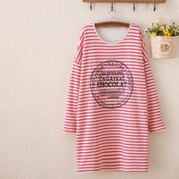 New Autumn/Winter women fashion stripe boutique thickening long hoodies