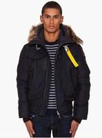 Real fur outerwear parkas Hot brand new man 100% Down jacket men GOBI 812 Black short parka male winter outdoor boy puffer coat