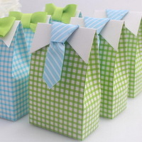 """FREE SHIPPING+""""My Little Man"""" Candy Bags Bridal and Groom Wedding Favors Boxes+60pairs/Lot+Larger Order Lower Price"""