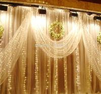 600led,Warm White 6MX3M/20x10ft,Led Curtain lights String Christmas Wedding,9Color,UK/US/AU/EU Plug Factory wholesale,Big Sale