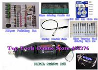EU Plug DREMEL MultiPro Drill + Carving Grinding & Polishing Accessories,Tungsten Steel Grinding Wool Polishing 161pcs Kits