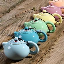 New Colorful Chinese Ceramic Teapot Double Fish Porcelain Kung Fu Tea Set Fine Bone China Drinkware Tea Pot