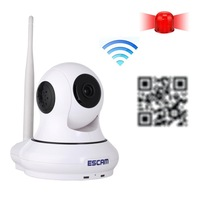 ESCAM QF500 IP camera HD 720P 1.0MP Pan / Tilt H.264 P2P , Dual IR-CUT Filter Alarm System 3.6mm wireless WiFi IR-Dome Camera
