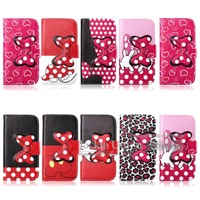 Fashion Leopard Wallet Flower PU Leather Flip Stand Case Cover For Samsung Galaxy S3 SIII i9300 Bowknot & Love Heart