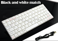2014 Hot Sale Free shipping Bluetooth Keyboard for IOS/Android/ Windows Black And White Wireless Keyboard Bluetooth 3.0