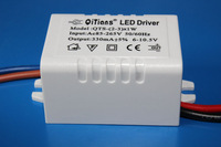 10pcs/lot 1-3X1W LED driver 1W 3W External power supply 85-265V 300mA outside Transformers for ceiling light lamps free shippi