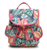New canvas floral backpack women small travel bags printing backpacks for girl school bag rucksack mochila feminina