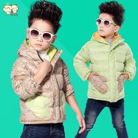 2014 new children Down coat children's clothing  Down jacket outerwear winter thickening boys child Fashion short trench coat