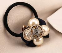 2014 new fashion sweet temperament wild retro romantic parsimony cute fabric bow star pearl hair accessories  F7064
