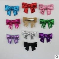 Free Shipping (5pcs/Lot)Embroideried Sequin Small Hair Bows With Hair Clip Girls' DIY Hair Accessories Hair Pins Hair Decoration
