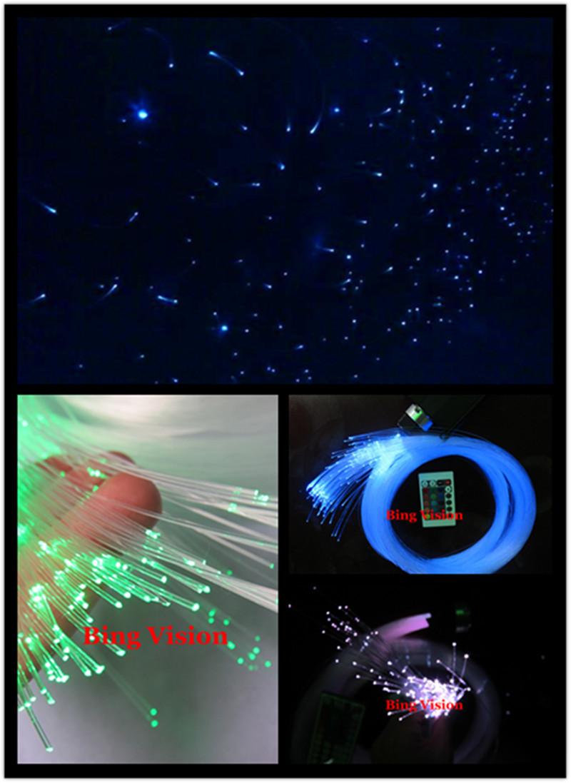 PMMA Fiber Optic Star Ceiling Kit Lighting LED RGB Light Source 200 Strands 0