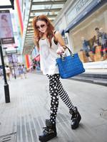 Free shipping Han edition Design stars horizontal stripes sexy Women Design Vintage graffiti Leggings fashion Slim Fit -WZ087