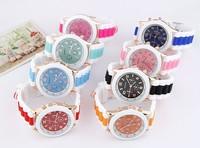 Min order $10 Special Offer Plastic Wristwatches New 2015 Fashion Candy Color Silicon Bracelet Wrist Women Quartz Watch Z&E2035