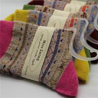 high quliaty Christmas Women Winter Rabbit Wool Socks 2014 Female Thermal Thickening Snowflake Warm Socks 10pcs=5pairs/lot
