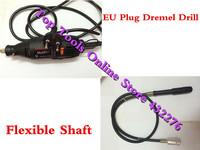 EU Plug DREMEL Mini-mill Grinding Machine Engraving Pen Electric Drill DIY Dirlls,with Flexible Shaft