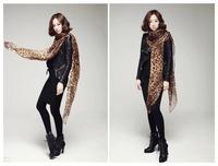 Hot Fashion 160CM X 48CM  Beautiful Ladies' Grey/ Leopard/Animal Print Chiffon Long Scarf/Shawl/Stole