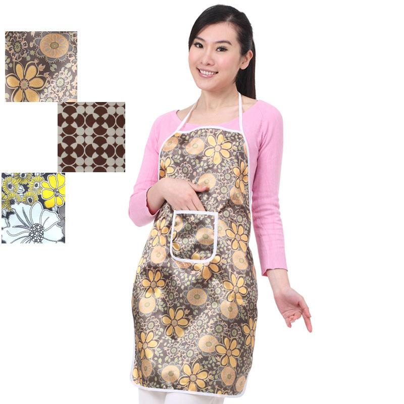 Calico waterproof aprons random colors(China (Mainland))