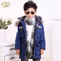 2014 male child down coat medium-long baby thickening down coat Men child down coat