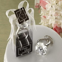 LOWEST PRICE With This Ring Crystal Keychain Ring in Clear Color Wedding Favors+30pcs/lot+FREE SHIPPING