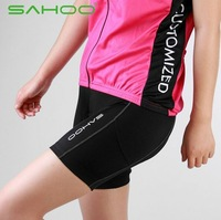 High quality with Pad! SAHOO Bicycle Cycling Bike Short Tights Shorts Pants for Ladies women 3D Padded Coolmax Black Size S-XL