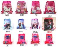2014 best-seller Peppa Pig design portable children school bag/ top quality nonwoven fabrics drawstring type schoolbag/ bags