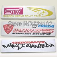 20pcs 3D STI SPEED alloy Aluminum Badges Emblem D020