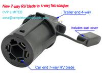 trailer plug adapter Trailer RV connector adaptor NEW 7 way round RV blade style to 4 way  trailer adapter trailer parts plug