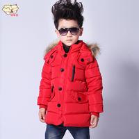 2014 children's clothing male child wadded jacket winter child thickening baby boy cotton-padded jacket wadded jacket outerwear
