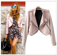 2014 Women Fashion Leisure Jacket Zipper Short Coat