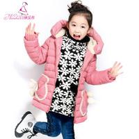 child thickening wadded jacket 2014 fashion child winter cotton-padded jacket outerwear princess polychromatic JACKET
