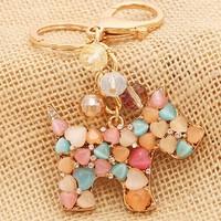 Christmas Gift  for Girl Cat's eye Opal Dog Key chain chaveiro metal Keychain Alloy Keyring ,Real Gold Plated ,Handbag Charms