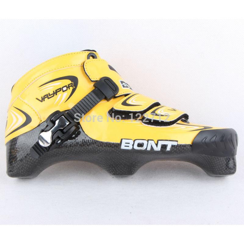 BONT VAYPOR Professional adult inline speed skates shoes three point speed roller skates carbon fiber boots(China (Mainland))