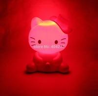 Cute 3D Hello Kitty Cartoon USB Battery LED Night Lamp,Multicolor Lamplight Night Lights Xmas Decoration Light