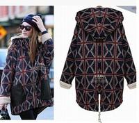 New 2014 Long Oversize Cashmere Blends Winter Women Coat Women's Winter Coats With Oversized Outerwear Coat Female Overcoat