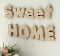 4pcs/lot Height around 10cm wood english letters home decoration wall letters wedding decor DIY letters wedding party design