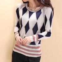 Winter Wool pullover 2014 new winter women's diamond lattice Pullover women sweater