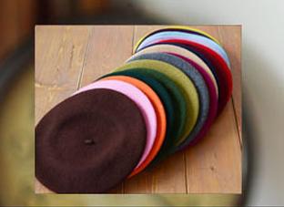 2Pcs/Lot Women Knitted Elastic Caps Autumn Winter Beret Women Lady Girls Hats Free Shipping(China (Mainland))