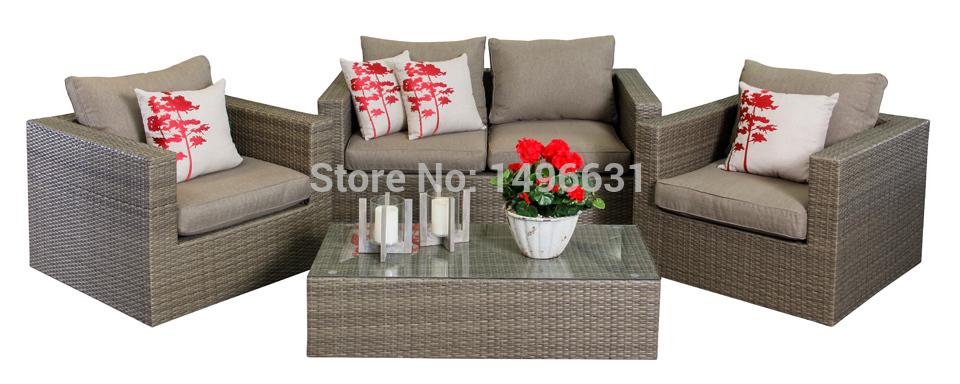 Indianna 4pcs PE Wicker Sofa Set 2015 New Garden Furniture Rattan Outdoor Furntirue(China (Mainland))