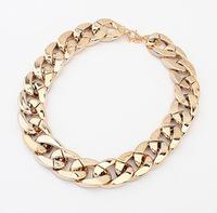 Fashion women large chain necklaces female PVC Necklaces