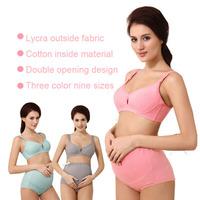 manufacturer wholesale Pregnant women underwear Pure cotton feeding bra with rims prevent sagging button on nursing bra