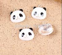Free shipping 50pcs/lot 18*18mm animal panda shape jewelry bracelet charms drip oil DIY bracelet charm Phone decoration charm