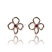 Wedding flower stud earrings fashion designer jewelry for women earing bijoux wholesale
