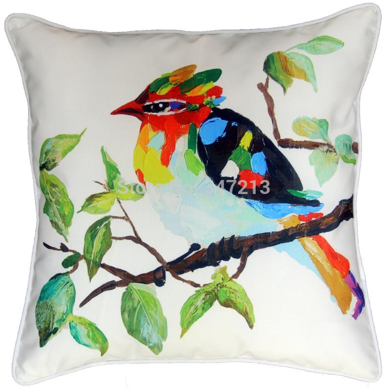 2 peças / lote preço estilo atacado pintura a óleo capa de almofada decorativa para assento do sofá e cama(China (Mainland))