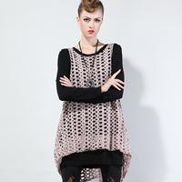 2014 Women Fashion Cutout  Autumn and Winter Long Style Casual Shirt Brand Female Streetwear Clothing plus size