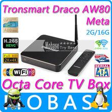 Tronsmart Draco AW80 Meta Allwinner A80 Octa Core Android TV Box 2G/16G 802.11ac 2.4G/5GHz WiFi RJ45 AV SD USB 3.0 SATA Smart TV(China (Mainland))