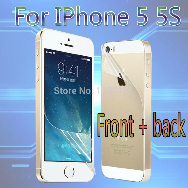 Бесплатная доставка - HD ясный протектор экрана для iPhone 5 5S ясно экран защитную пленку экрана гвардии с ткань для очистки для подарка