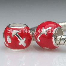 Zodiac Sign 12 Horoscopes 925 Sterling Silver Sagittarius Charm Bead Fits Pandora DIY European Style Bracelets