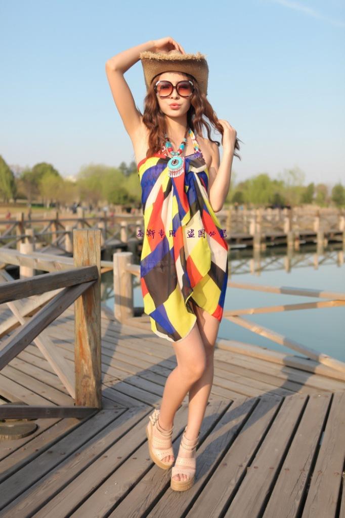 Beautiful Summer Women Dresses 2017 Tie Dye Print Side Split Loose Long Dress